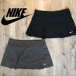 TWO Nike Dri-Fit Tennis Skorts